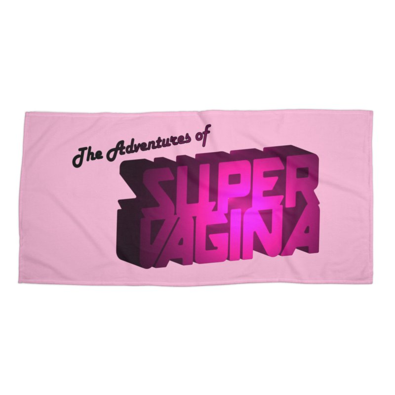 The Adventures of Super Vagina Accessories Beach Towel by Demeter Designs Artist Shop