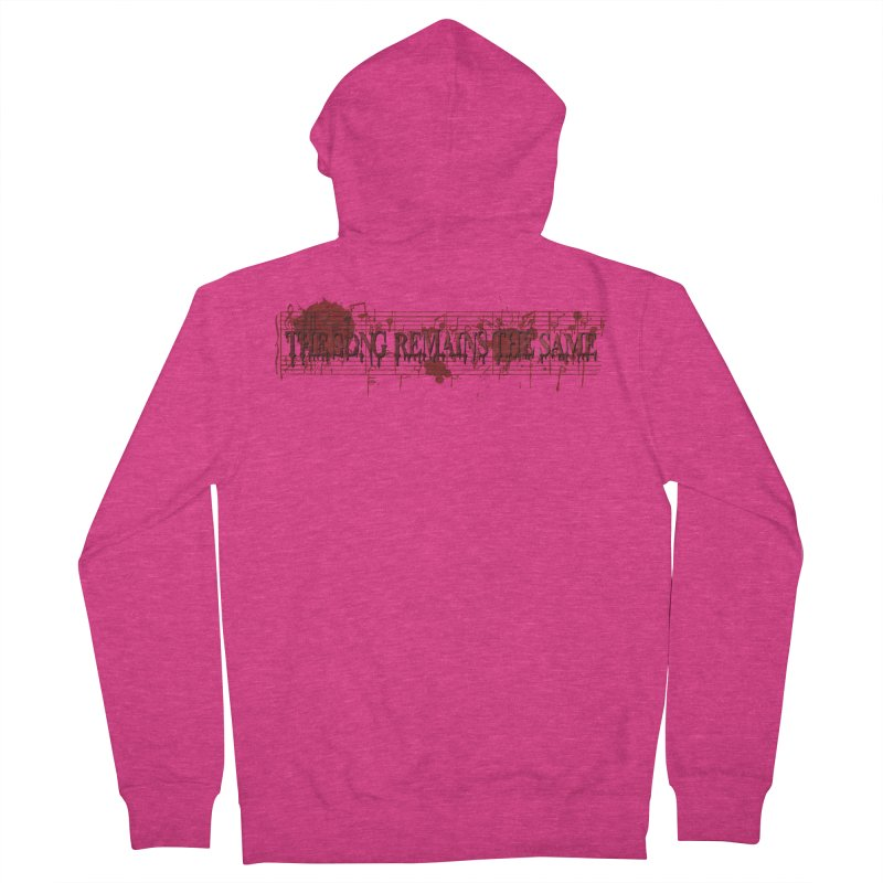 The Song Remains The Same Women's French Terry Zip-Up Hoody by Demeter Designs Artist Shop
