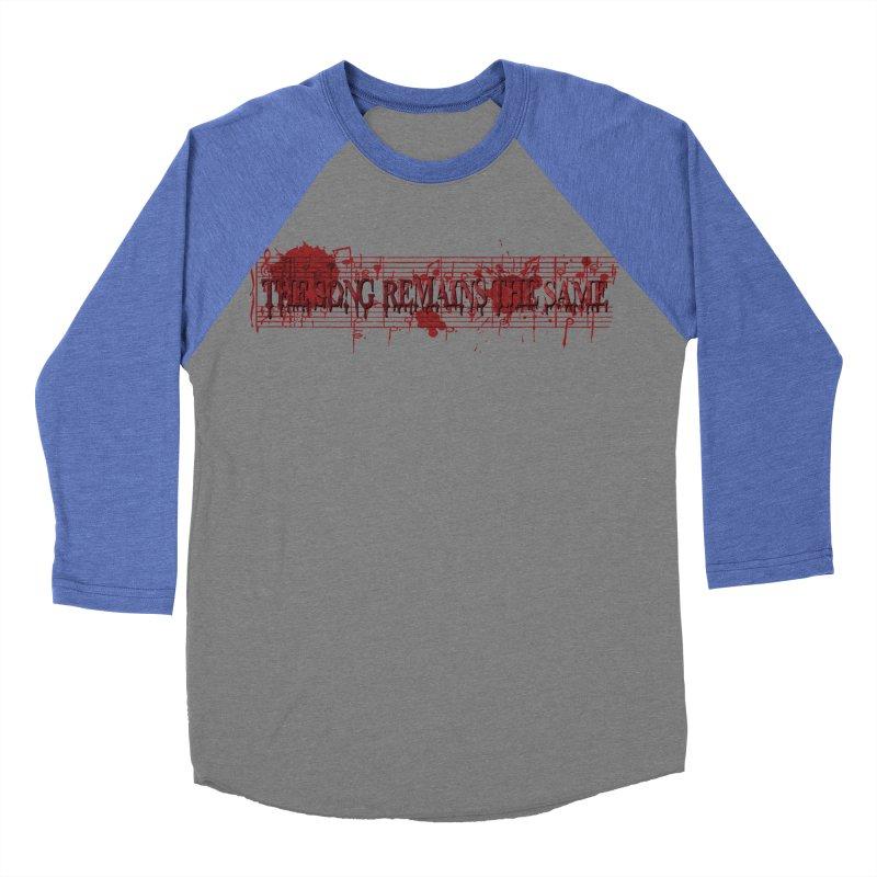 The Song Remains The Same Men's Baseball Triblend Longsleeve T-Shirt by Demeter Designs Artist Shop