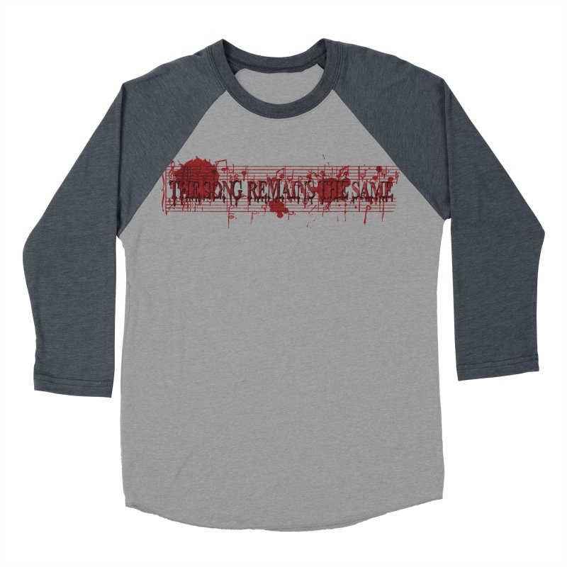 The Song Remains The Same Men's Baseball Triblend Longsleeve T-Shirt by Demeter Designs Artist Shop