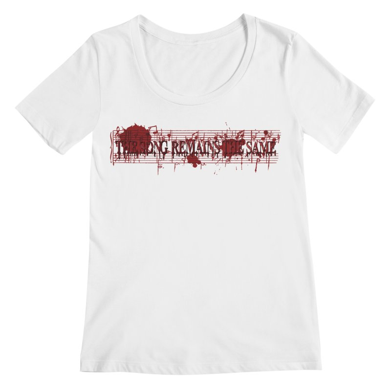 The Song Remains The Same Women's Regular Scoop Neck by Demeter Designs Artist Shop