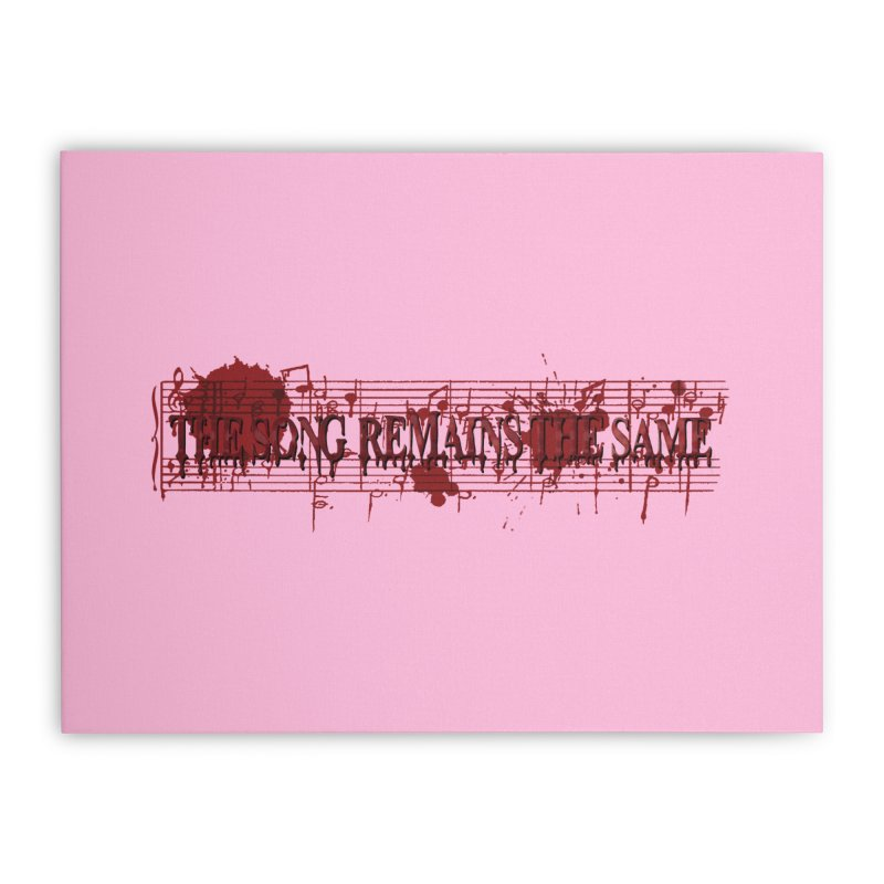The Song Remains The Same Home Stretched Canvas by Demeter Designs Artist Shop