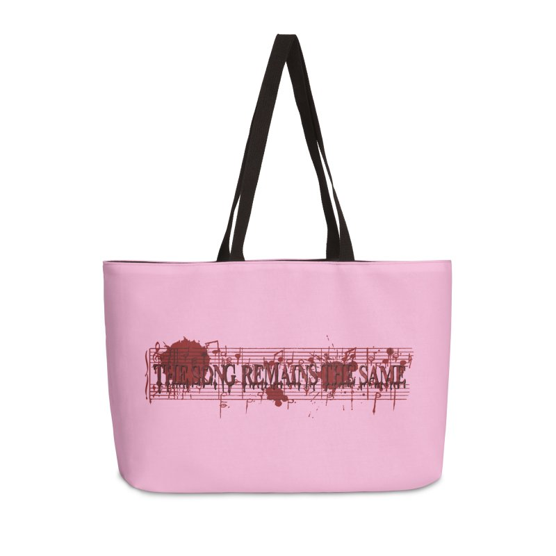 The Song Remains The Same Accessories Weekender Bag Bag by Demeter Designs Artist Shop