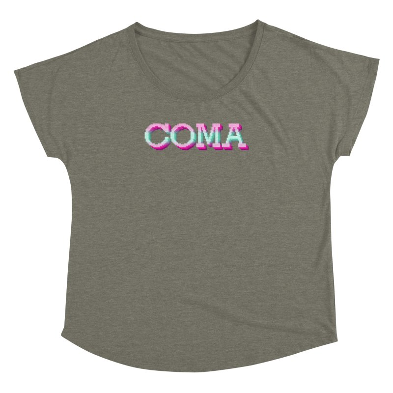 COMA Women's Dolman Scoop Neck by Demeter Designs Artist Shop