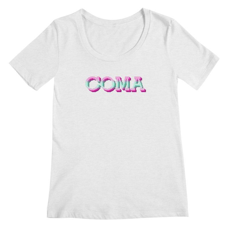 COMA Women's Regular Scoop Neck by Demeter Designs Artist Shop