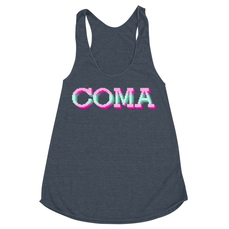 COMA Women's Racerback Triblend Tank by Demeter Designs Artist Shop