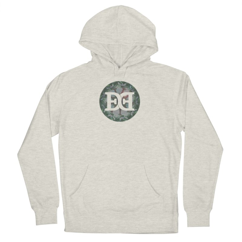 DEED logo Trees Women's French Terry Pullover Hoody by Demeter Designs Artist Shop
