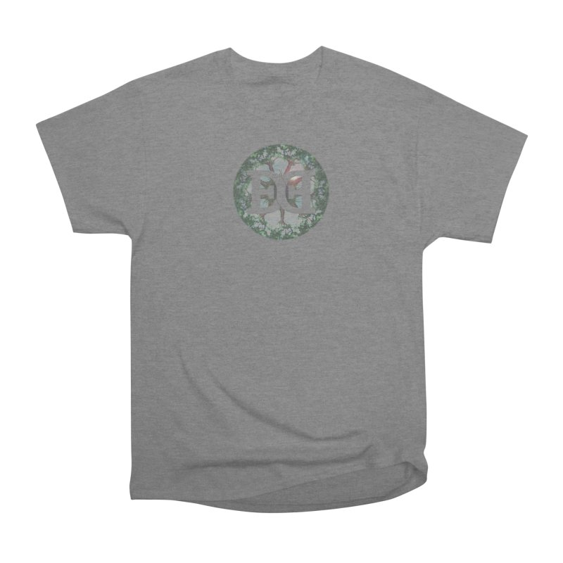 DEED logo Trees Women's Heavyweight Unisex T-Shirt by Demeter Designs Artist Shop