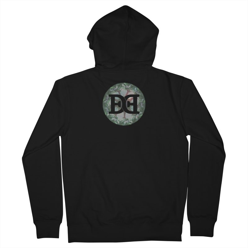 DEED logo Trees Men's French Terry Zip-Up Hoody by Demeter Designs Artist Shop