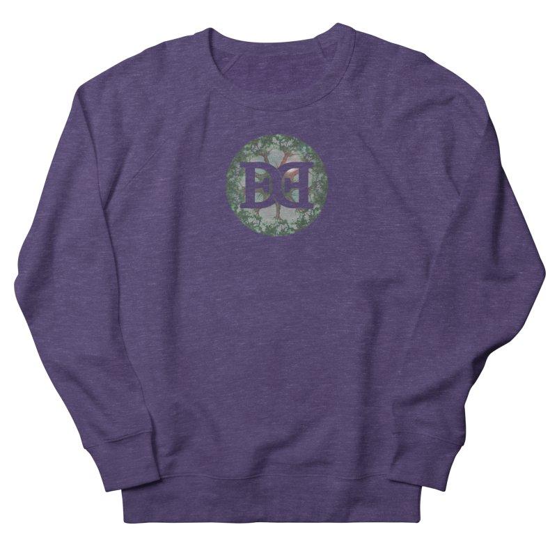 DEED logo Trees Women's French Terry Sweatshirt by Demeter Designs Artist Shop