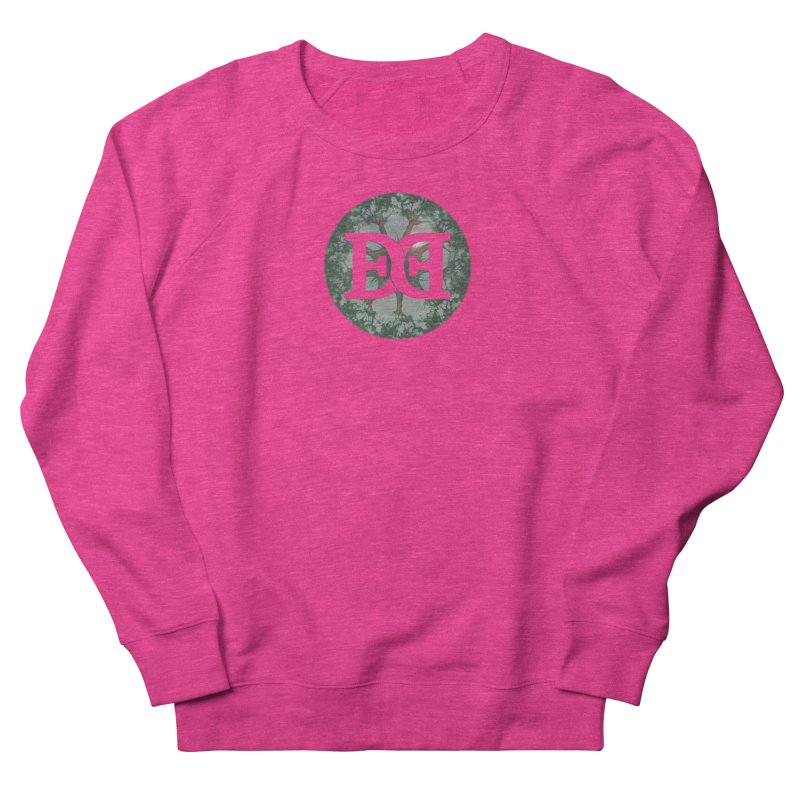 DEED logo Trees Women's French Terry Sweatshirt by Demeter Designs Artist Shop