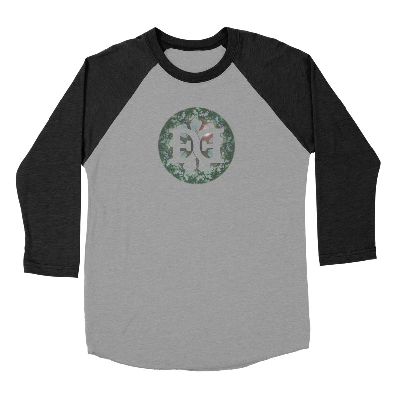 DEED logo Trees Women's Baseball Triblend Longsleeve T-Shirt by Demeter Designs Artist Shop