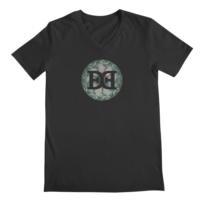 DEED logo Trees Men's Regular V-Neck by Demeter Designs Artist Shop