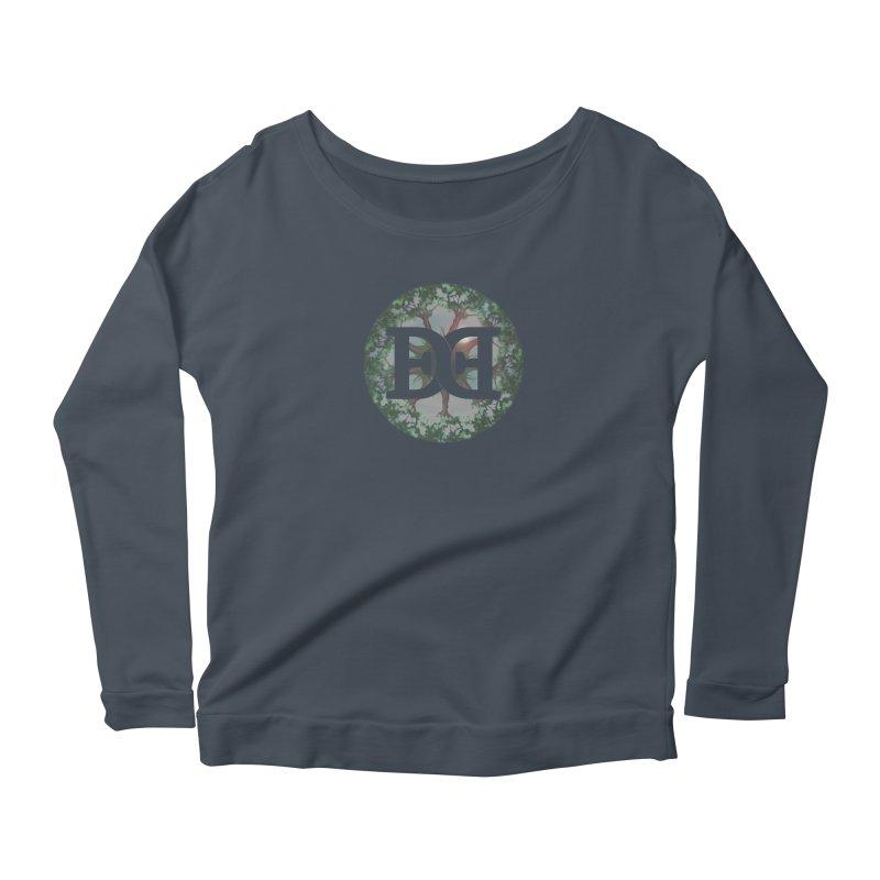 DEED logo Trees Women's Scoop Neck Longsleeve T-Shirt by Demeter Designs Artist Shop