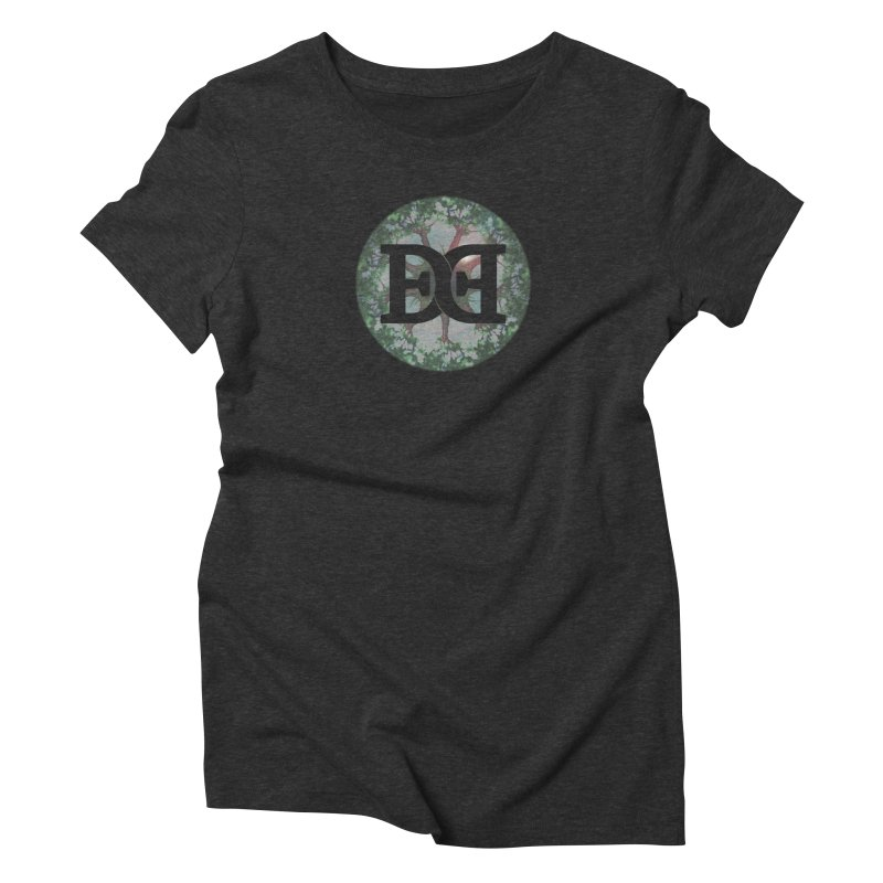 DEED logo Trees Women's Triblend T-Shirt by Demeter Designs Artist Shop