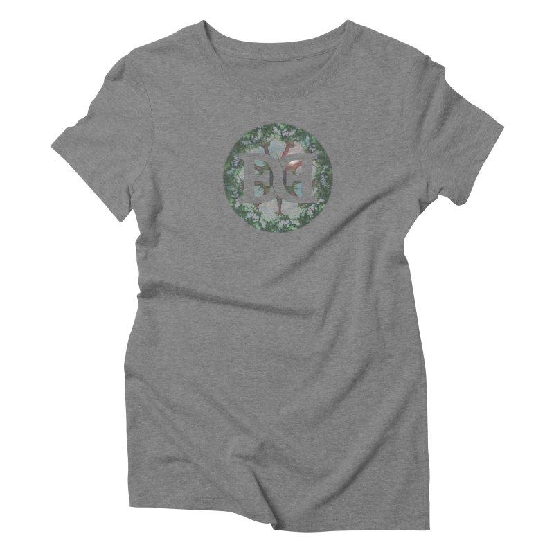 DEED logo Trees Women's Triblend T-Shirt by Demeter Designs Artist Shop