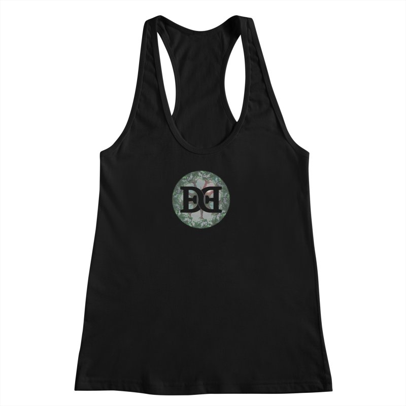 DEED logo Trees Women's Racerback Tank by Demeter Designs Artist Shop