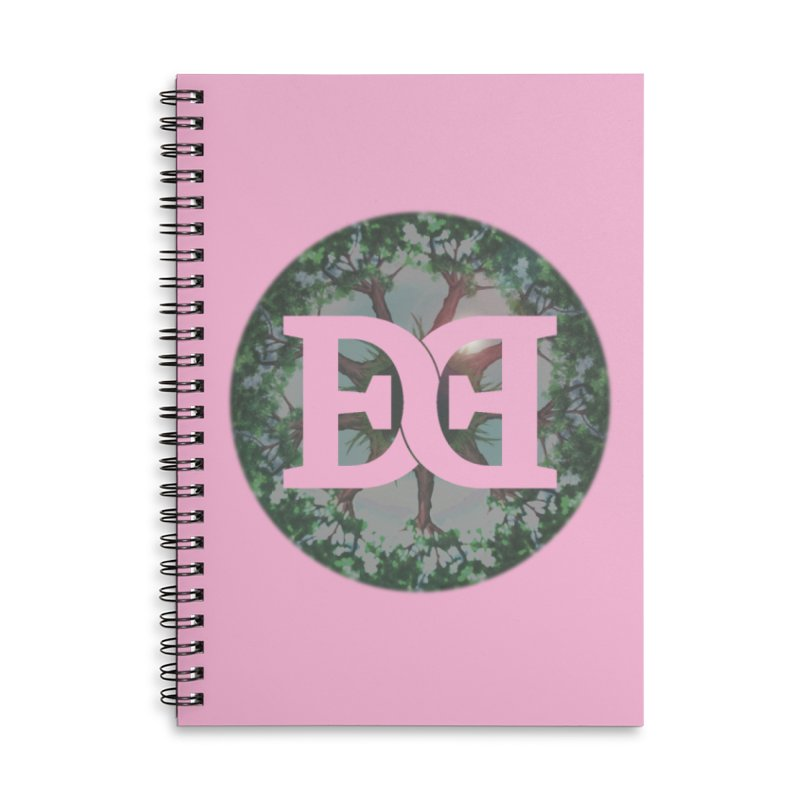 DEED logo Trees Accessories Lined Spiral Notebook by Demeter Designs Artist Shop