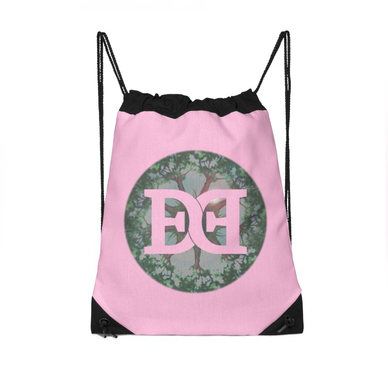 DEED logo Trees Accessories Drawstring Bag Bag by Demeter Designs Artist Shop