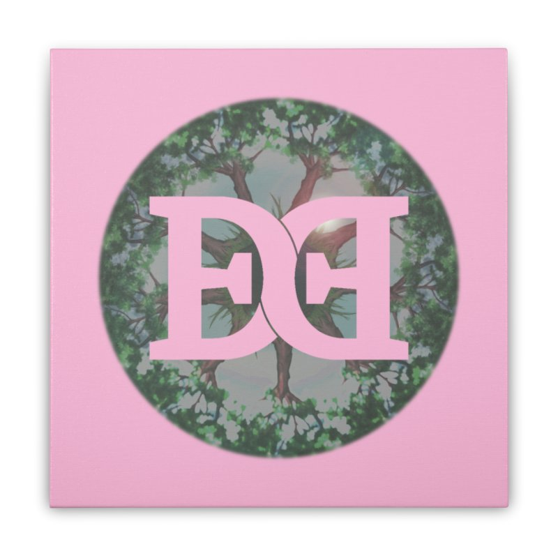 DEED logo Trees Home Stretched Canvas by Demeter Designs Artist Shop