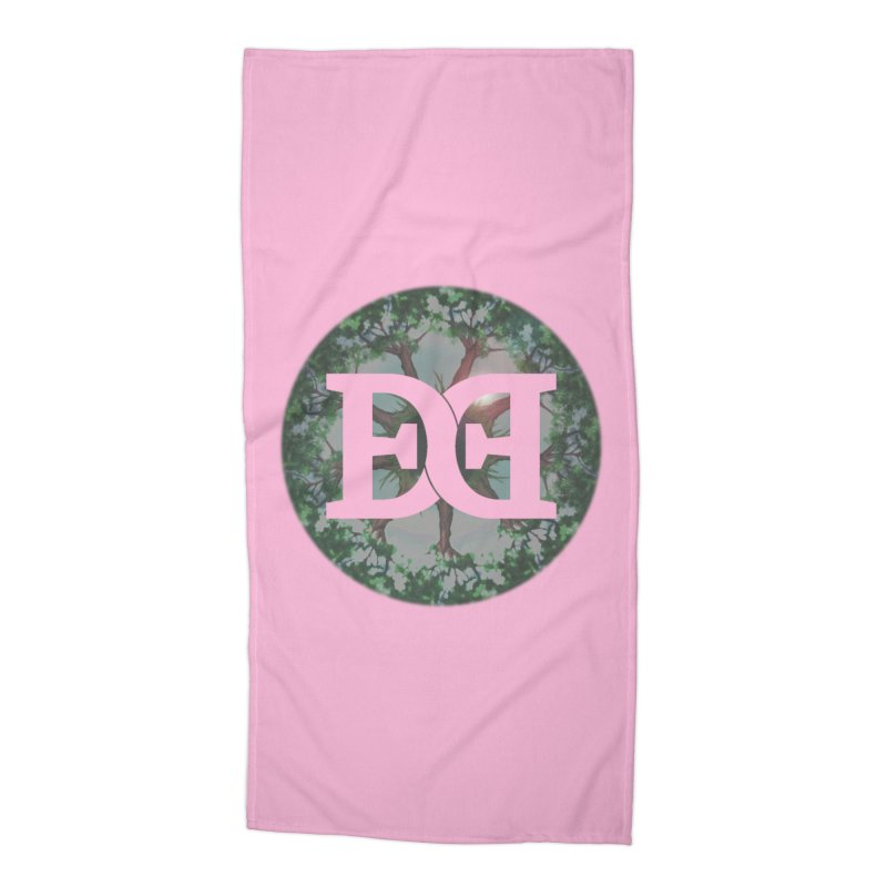 DEED logo Trees Accessories Beach Towel by Demeter Designs Artist Shop