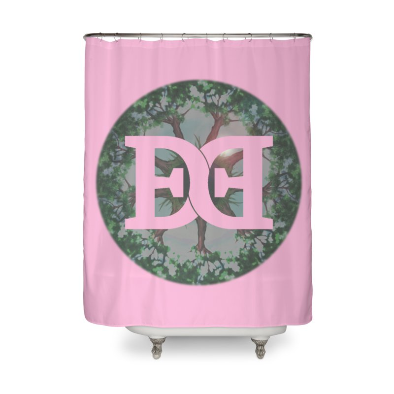 DEED logo Trees Home Shower Curtain by Demeter Designs Artist Shop