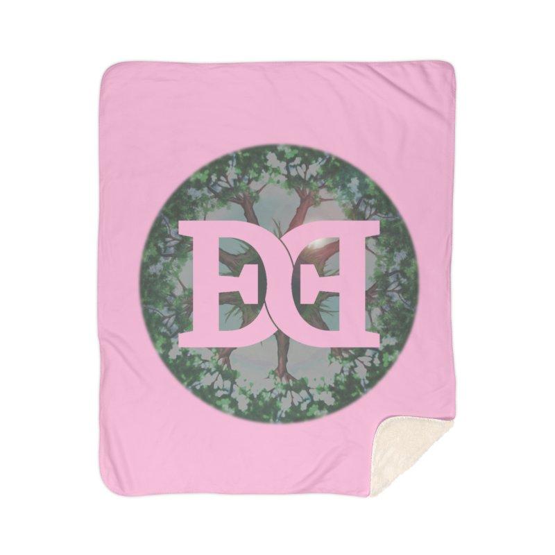 DEED logo Trees Home Sherpa Blanket Blanket by Demeter Designs Artist Shop