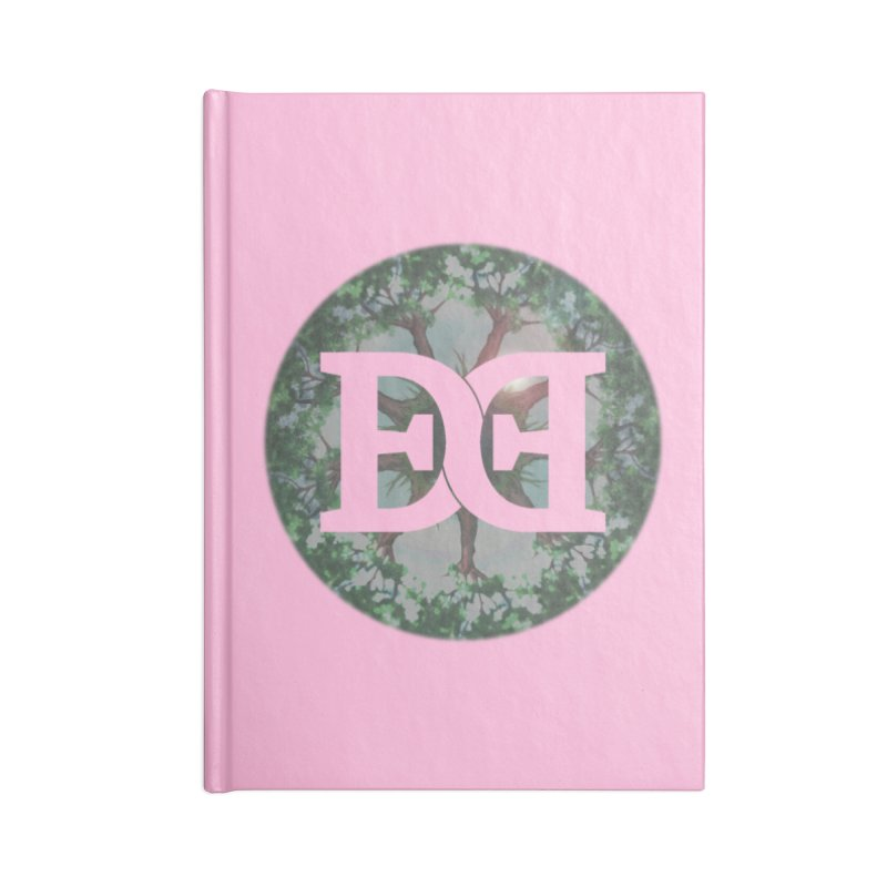 DEED logo Trees Accessories Lined Journal Notebook by Demeter Designs Artist Shop