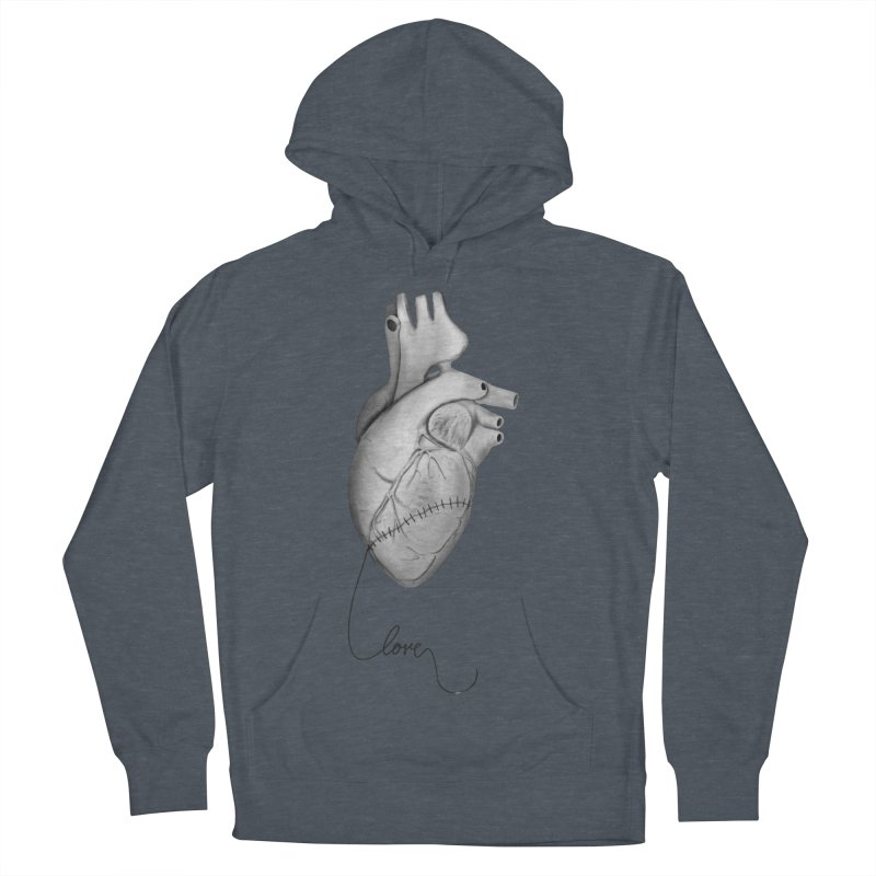 Sutures Men's French Terry Pullover Hoody by Demeter Designs Artist Shop