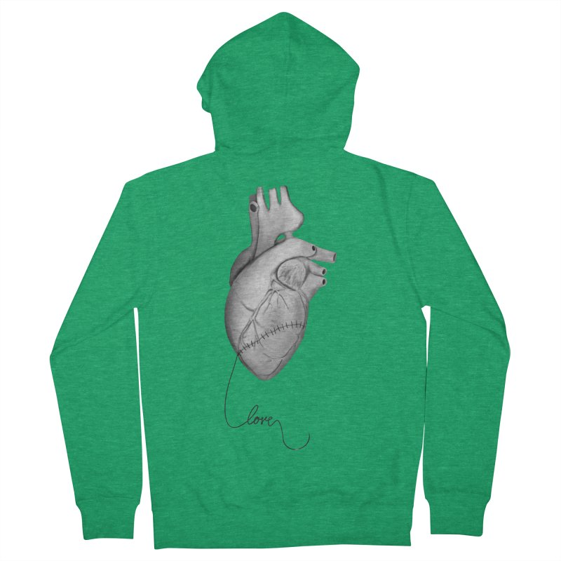Sutures Women's French Terry Zip-Up Hoody by Demeter Designs Artist Shop