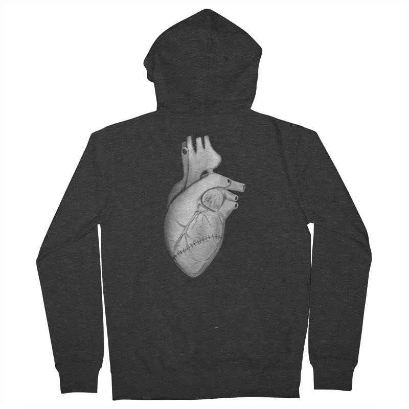 Sutures Men's French Terry Zip-Up Hoody by Demeter Designs Artist Shop