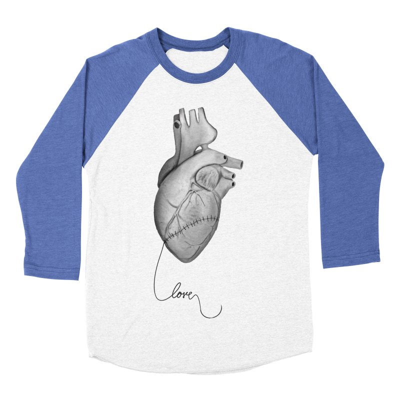 Sutures Women's Baseball Triblend Longsleeve T-Shirt by Demeter Designs Artist Shop