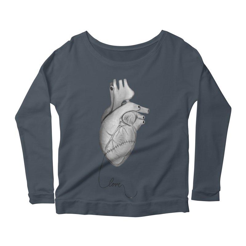 Sutures Women's Scoop Neck Longsleeve T-Shirt by Demeter Designs Artist Shop