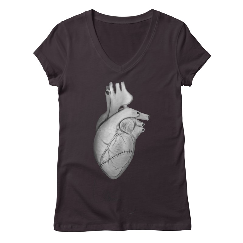 Sutures Women's Regular V-Neck by Demeter Designs Artist Shop