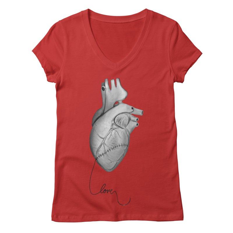 Sutures Women's Regular V-Neck by Demeter Designs Artist Shop