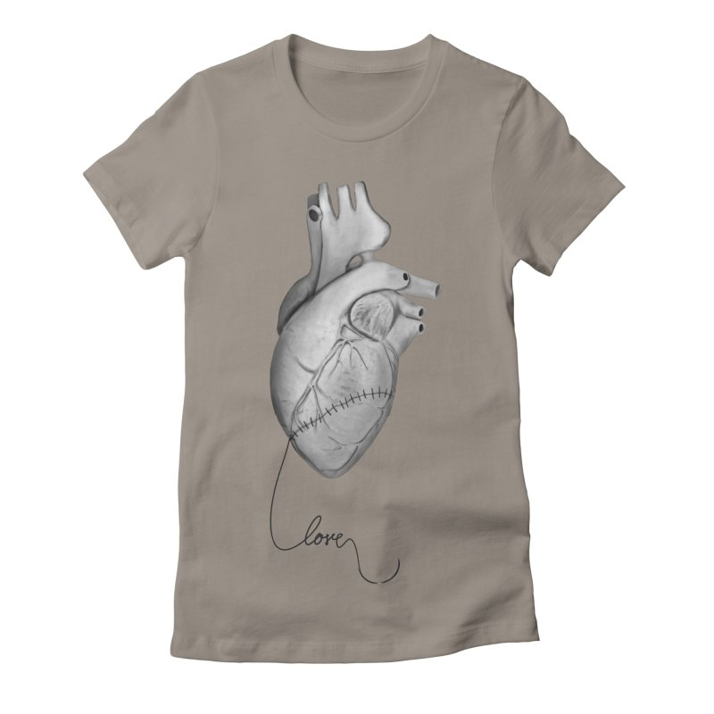 Sutures Women's Fitted T-Shirt by Demeter Designs Artist Shop