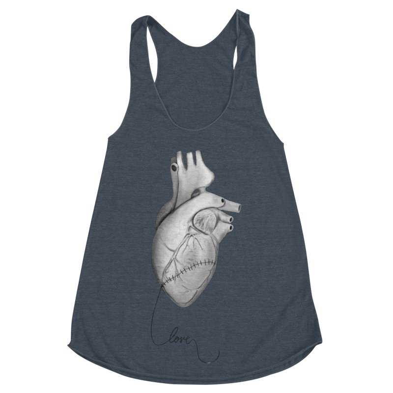 Sutures Women's Racerback Triblend Tank by Demeter Designs Artist Shop