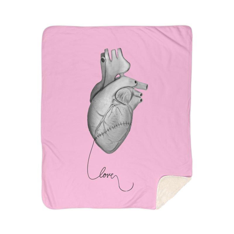 Sutures Home Sherpa Blanket Blanket by Demeter Designs Artist Shop