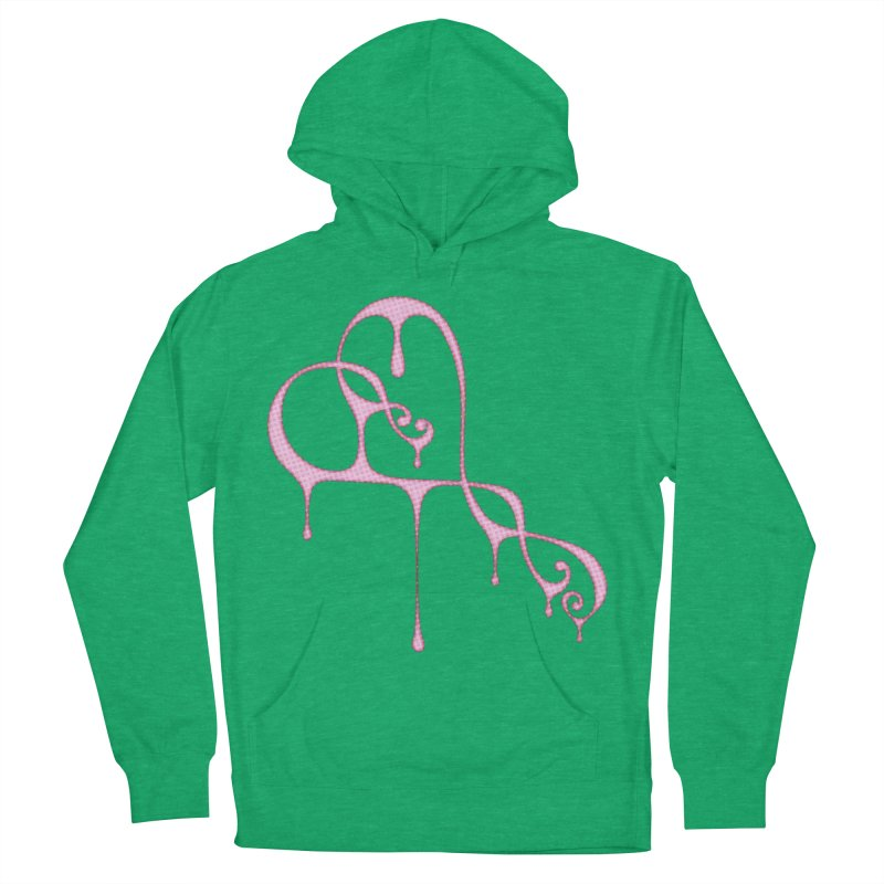 Bleeding Heart (Polka Dots Light Pink) Men's French Terry Pullover Hoody by Demeter Designs Artist Shop