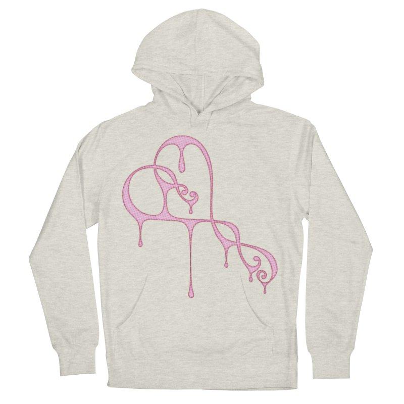 Bleeding Heart (Polka Dots Light Pink) Men's French Terry Pullover Hoody by Demeter Designs Artist Shop