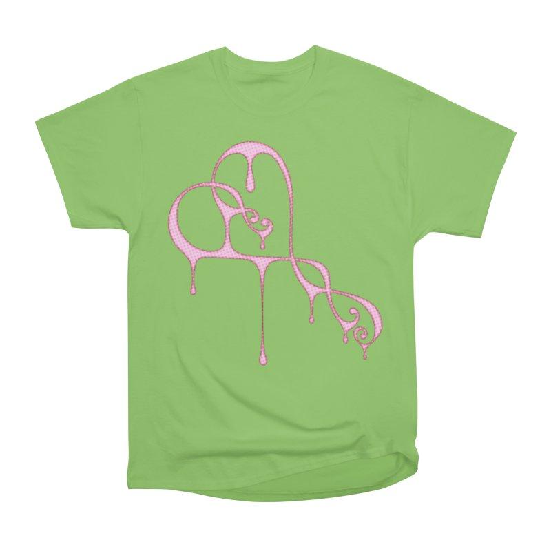 Bleeding Heart (Polka Dots Light Pink) Women's Heavyweight Unisex T-Shirt by Demeter Designs Artist Shop