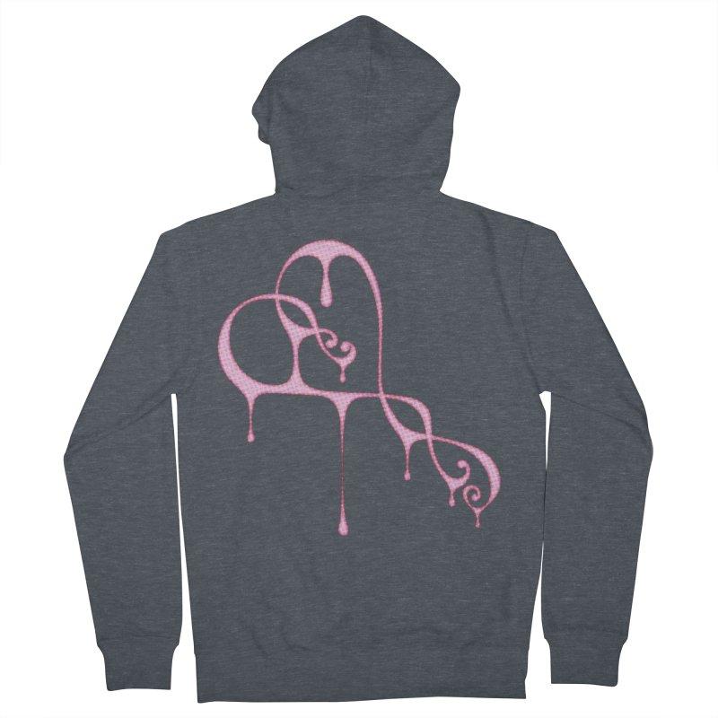 Bleeding Heart (Polka Dots Light Pink) Women's French Terry Zip-Up Hoody by Demeter Designs Artist Shop