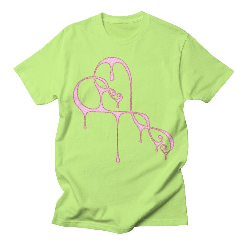 Bleeding Heart (Polka Dots Light Pink) Women's Regular Unisex T-Shirt by Demeter Designs Artist Shop
