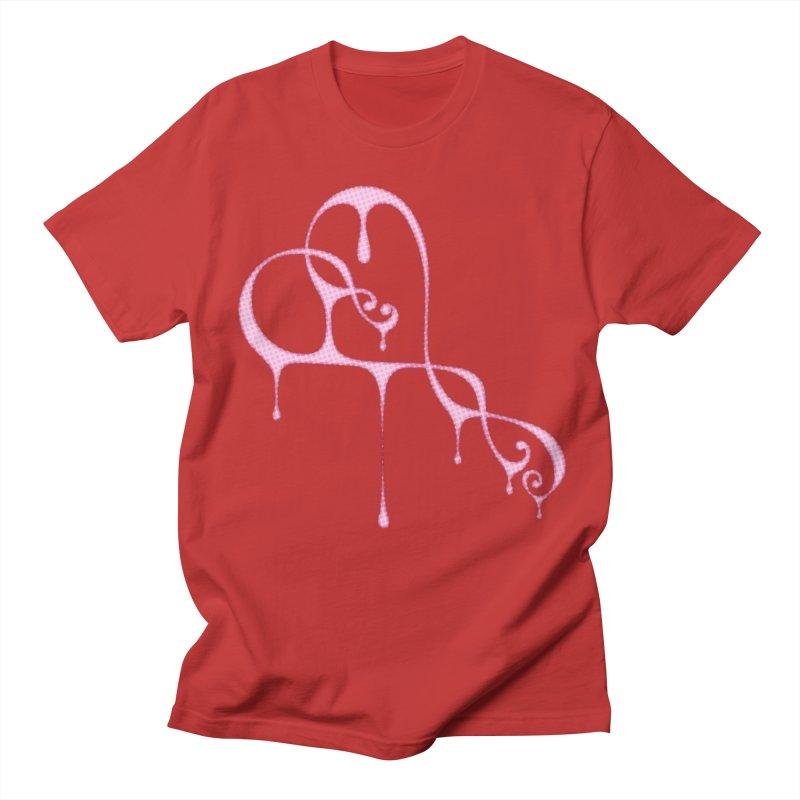 Bleeding Heart (Polka Dots Light Pink) Men's Regular T-Shirt by Demeter Designs Artist Shop