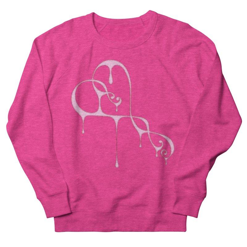 Bleeding Heart (Polka Dots Light Pink) Women's French Terry Sweatshirt by Demeter Designs Artist Shop