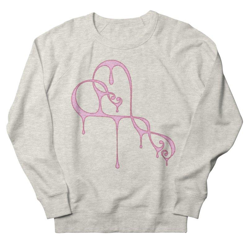 Bleeding Heart (Polka Dots Light Pink) Men's French Terry Sweatshirt by Demeter Designs Artist Shop