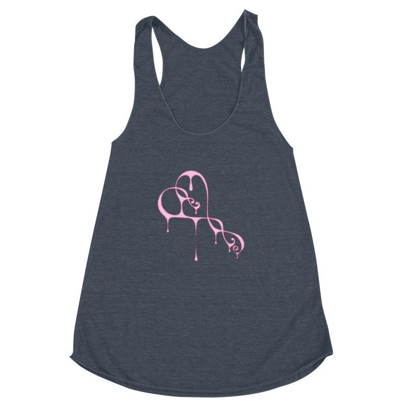 Bleeding Heart (Polka Dots Light Pink) Women's Racerback Triblend Tank by Demeter Designs Artist Shop