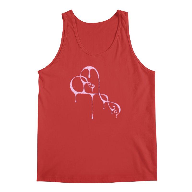 Bleeding Heart (Polka Dots Light Pink) Men's Regular Tank by Demeter Designs Artist Shop