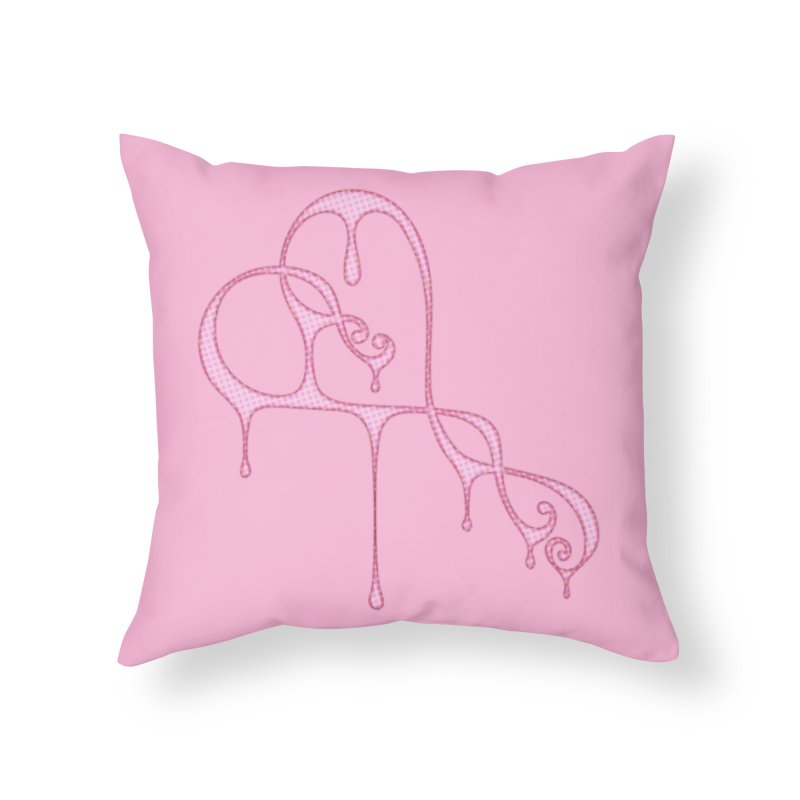 Bleeding Heart (Polka Dots Light Pink) Home Throw Pillow by Demeter Designs Artist Shop