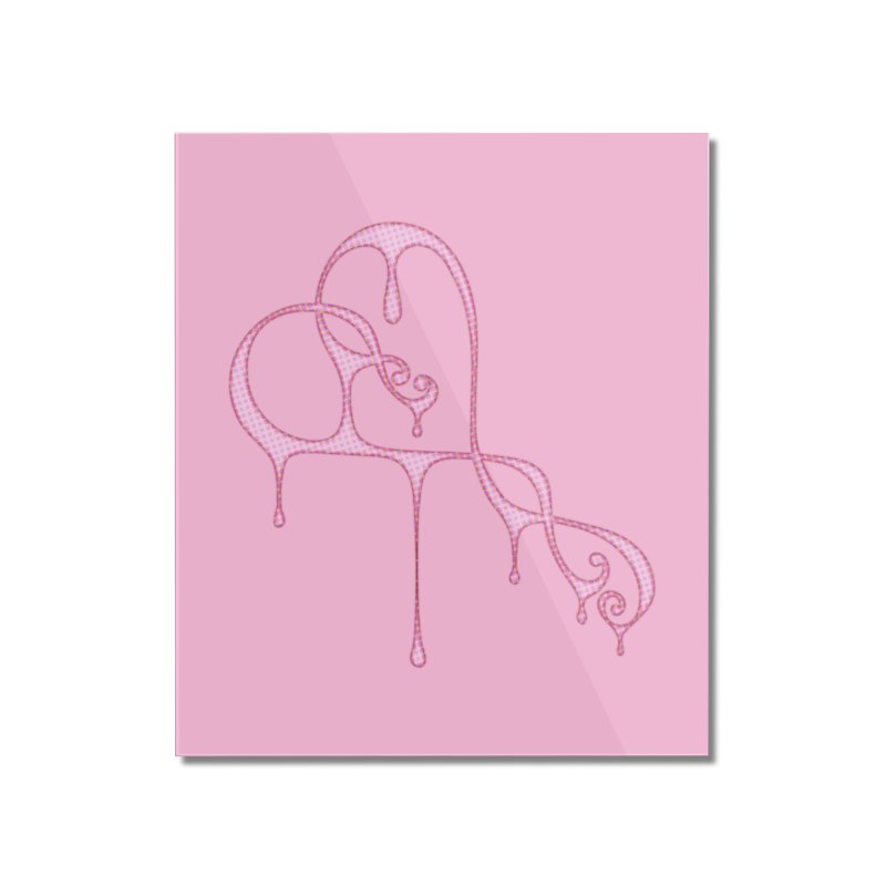 Bleeding Heart (Polka Dots Light Pink) Home Mounted Acrylic Print by Demeter Designs Artist Shop